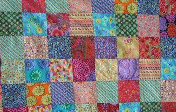 Multicoloured Patchwork Memorial Quilt