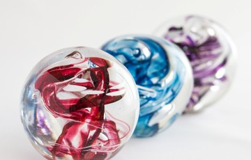 Beautiful Glass Memorial Paperweights