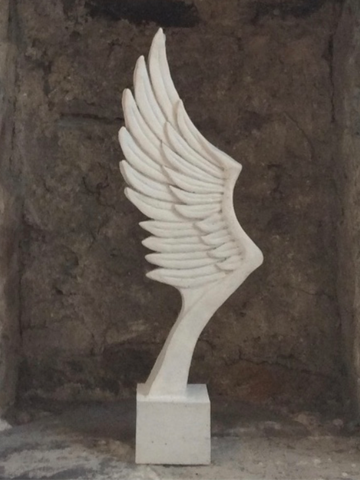 Angel Wing Cremation Sculpture by Casting Ashes®