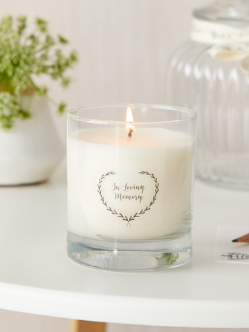 'In Loving Memory' Large 30cl Gift Boxed Funeral Remembrance Candle