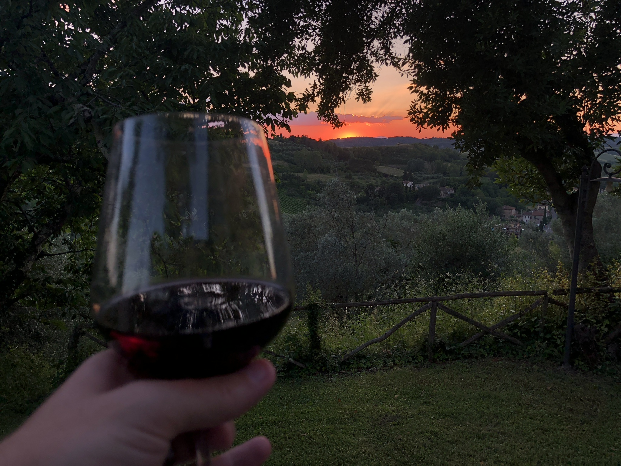 Red wine in Tuscany